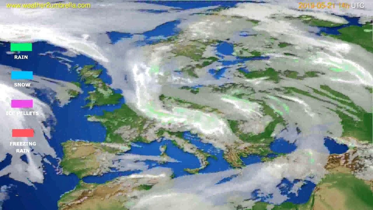 Precipitation forecast Europe // modelrun: 12h UTC 2019-05-19