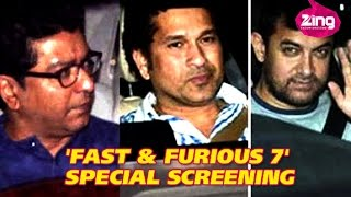 Nonton Aamir Khan, Sachin Tendulkar at 'Fast & Furious 7' screening Film Subtitle Indonesia Streaming Movie Download
