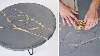 DIY KINTSUGI | How To Build a Round Concrete Coffee Table