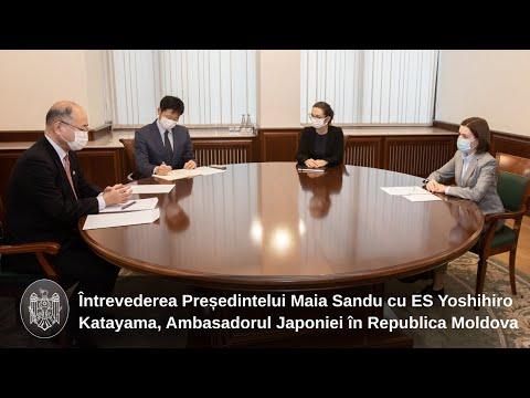 Președintele Maia Sandu s-a întâlnit cu Ambasadorul Japoniei în Republica Moldova, Yoshihiro Katayama