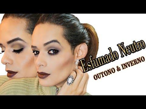 Maquiagem com esfumado neutro - Outono/Inverno 2017