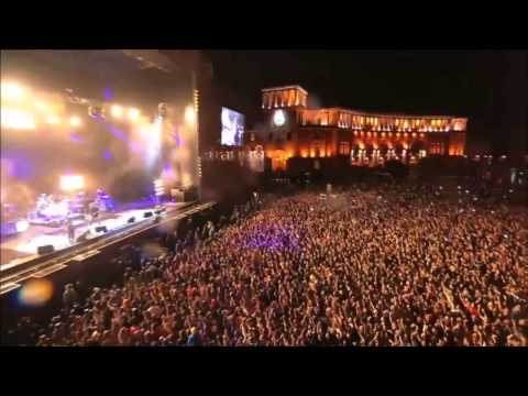 Perfect timing lightning bolt at the System of a Down concert in Armenia.