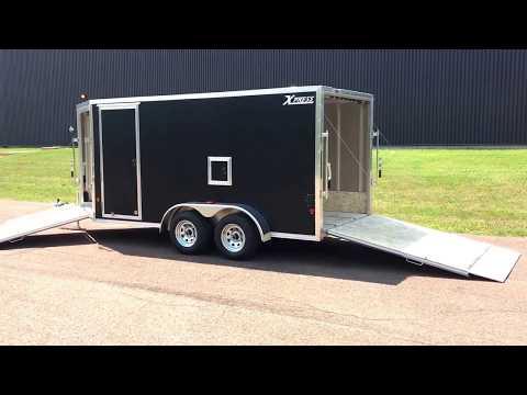 New 2019 Xpress 7 X 19 Elite Snowmobile Trailer Cargo