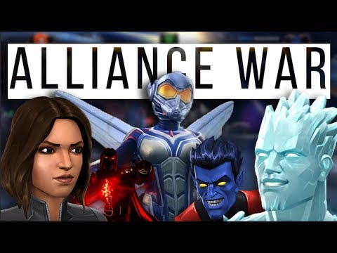 Alliance War | H8fl8 Vs ØmnÎ | Wasp Mini | Nightcrawler Mini | Marvel Contest Of Champions