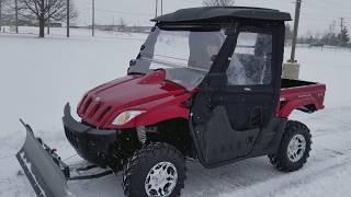 7. 500cc Ranch Pony Utility UTV With Snow Plow 4x4 From SaferWholesale.com