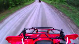 11. 2012 Honda Rancher 420 tops out against Can Am 800R XC