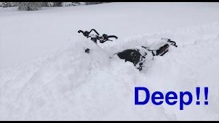 9. Arctic Cat M8000 in Deep Snow!