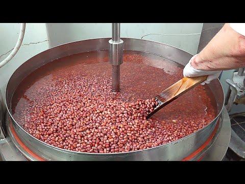 쌀찐빵 Steamed Rice Bread with Sweet Red Beans - Korean Street Food