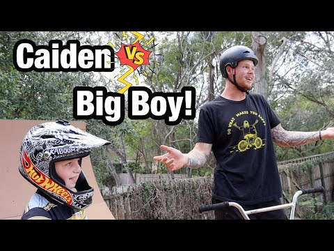 GAME OF BIKE! Caiden VS Big Boy!!