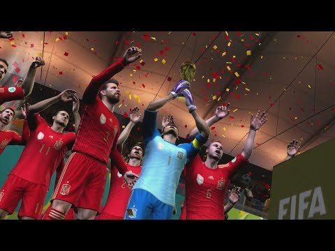 Cup - Trophy Presentation 2014 FIFA World Cup Brazil Video Game. Spain wins the World Cup 2014. Check out my channel for more 2014 FIFA World Cup content!