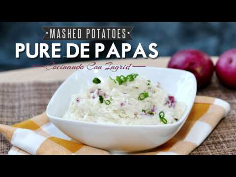 COMO HACER PURE DE PAPAS - Mashed Potatoes