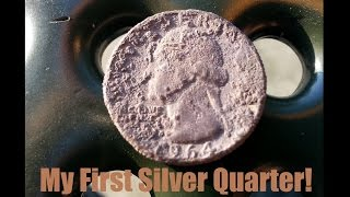 Before singing practice, I went to the nearest park, called Little People's Park in Anaheim, California, and I found my first silver quarter EVER!!! Yay!!!! It's so weird when I'm out metal detecting and find something amazing, I want to jump up and down and shout for joy, but at the same time, I don't want to cause too much attention in my direction...Thanks for following me on my journey! Subscribe and share with your friends if you were at least entertained :) Thanks again! Keep hunting!