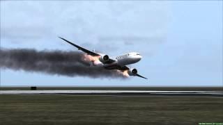 Emirates 777-200LR Emergency Landing Tokyo Haneda 飛行機事故