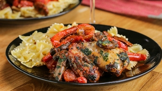 Chicken with Tomato Wine Sauce (Chicken Cacciatore) by Tasty