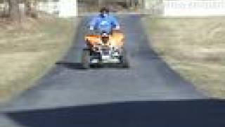 10. 2004 Kawasaki KFX700 wheelie session