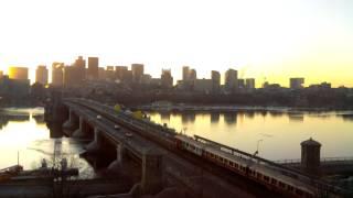 Sunrise Time-Lapse Over Longfellow Bridge - Mar 19, 2014