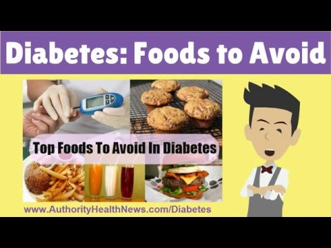 See Foods to AVOID with Diabetes [FULL List: Diabetes Foods to Avoid]:  DANGEROUS Foods to Avoid with Diabetes - See Powerful, Natural Treatments to REVERSE Diabetes:http://www.authorityhealthnews.com/Diabetes---------5 Healthy Eating Tips When You Have DiabetesDiabetics must monitor their food intake in order to remain healthy, but that does not mean that they can't have tasty food and even the occasional desert? It's important to know what foods to avoid with diabetes. Managing diabetes is more about making the switch to a healthier diet and applying some solid nutritional principles when you head to the grocery store. You should also pay attention to the different diabetes foods to avoid as well.  Here are five tips to help you eat healthfully when you have diabetes. 1. Plan before you shop to help you choose proper foods to avoid diabetes. Make sure that you include plenty of fresh fruits and vegetables for your daily menus and that you will have healthy and satisfying treats on hand so you won't be tempted to eat junk food. A well-planned grocery list is the single most important part of managing your diet when you have diabetes.2. Peruse restaurant menus before you head out for a meal to help you decide on which foods not to eat with diabetes. In a restaurant once you smell the foods cooking, it is more difficult to select healthful choices. Head to the Internet, look at the menu, and make your selection before you ever walk out the door.3. Don't think of snacks as the enemy. Instead, keep protein packed nuts on hand or some low-fat string cheese or consider making a salad with some added crunch. Keeping healthy snack foods on hand will ensure that you don't go off the dietary rails when you get hungry in the middle of the day.4. Swap out high carb foods for low carb options, this is an example of what foods to avoid with diabetes. For example, when you are hungry for a sandwich, choose to have a wrap instead of two large slices of bread. Simple substitutions like this will work wonders and keep you satisfied.5. Plan on spending more time in the kitchen. Once you have completed your shopping, take the time to prep parts of your meal to keep it simple during your work week. You will feel better when it is easier to eat healthfully.Foods to Avoid with Diabetes - See Powerful, Natural Treatments to REVERSE Diabetes: http://www.ascendents.net/?v=fSWhlhIMXQ0