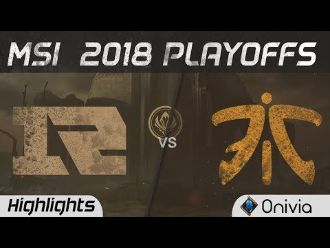 RNG vs FNC Highlights Game 1 MSI 2018 Playoffs Royal Never Give Up vs Fnatic by Onivia (видео)