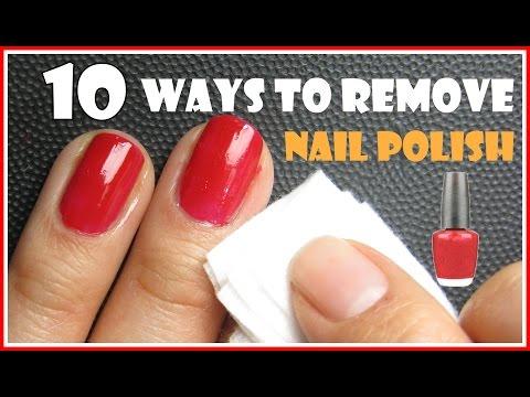 10 modi per rimuovere lo smalto