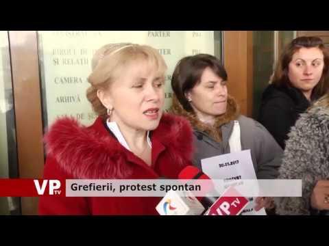 Grefierii, protest spontan