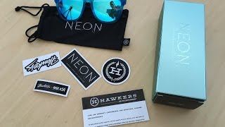 Unboxing my new sunglasses designed by Steve Aokihttps://www.hawkersco.com/products/neon-light-bluemusic by Andrew Applepie https://soundcloud.com/andrewapplepie