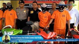 Polisi Aceh Tamiang Ciduk Sindikat Curanmor Antar Provinsi