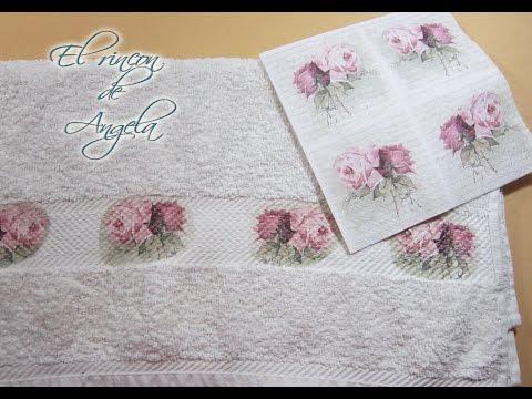 come eseguire il decoupage sul tessuto con tovaglioli decorati