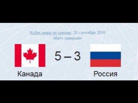 Россия 3-5 Канада.1/2 Финала. Кубок мира. Russia 3-5 Canada. World cup. (видео)