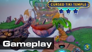 http://skylanderscharacterlist.com Today we finally dive into the gameplay. Here's my first play through of the Cursed Tiki Temple.