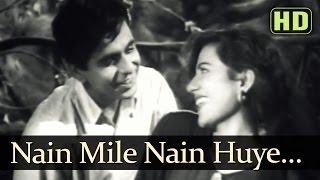 Nain Mile Nain Huye   Tarana Songs   Dilip Kumar   Madhubala   Lata Mangeshkar   Talat Mahmood