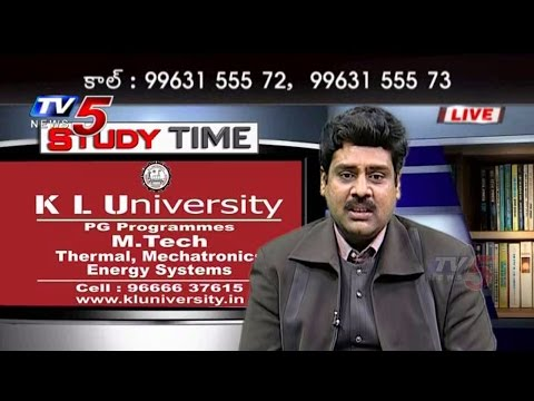 Kl University | Clarify Doubts on M.Tech Course Study Time : TV5 News
