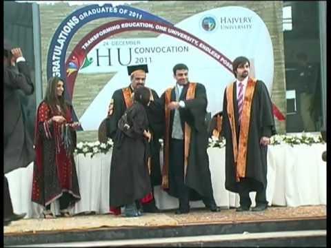 Hajvery - Hajvery University's Convocation 2011 was held at the HU Euro campus on Saturday, 24 December, 2011. A total of 472 graduates received their degrees. Convoca...