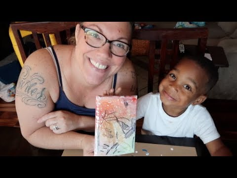 DIY-PERMANENT MARKERS AND ALCOHOL CANVAS WITH DJ (THE PRINCE FAMILY)