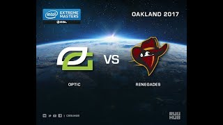 OpTic vs Renegades - IEM Oakland 2017 US Quals - map1 - de_cache [ceh9, Crystalmay]