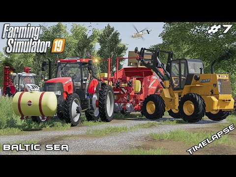Getting fields ready & planting potatoes | Animals on Baltic Sea | Farming Simulator 19 | Episode 7