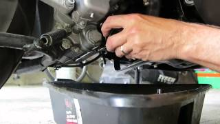 7. Piaggio BV 250 scooter engine and gear case oil change