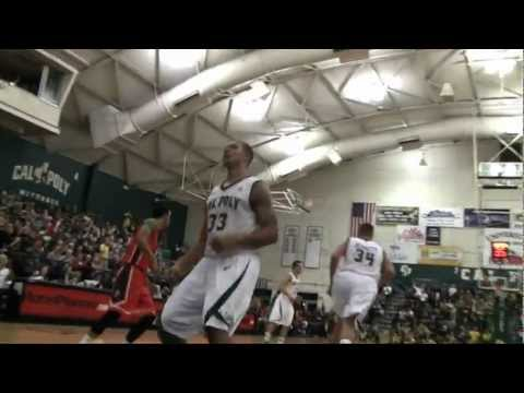 Cal Poly Men's Basketball versus Cal State Fullerton Highlights (March 9, 2013)