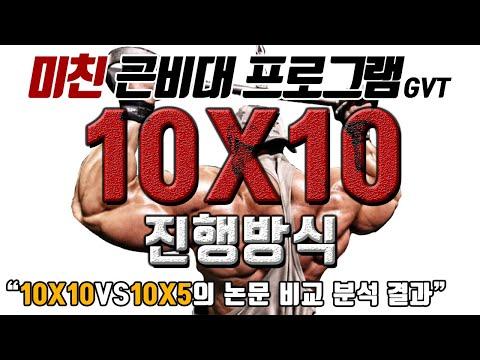 근비대 프로그램 GVT 10X10 진행방식편 [10X10VS10X5 논문 확인]