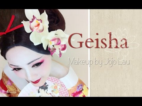 [萬聖節化妝教學] Geisha Makeup Tutorial 芸者