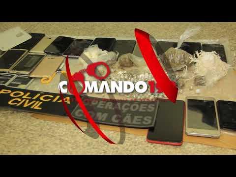 Operação em conjunto entre Polícia Penal, PC e PM resulta na apreensão de drogas e celulares no Presídio Agenor