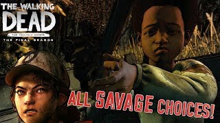 SAVAGE CHOICES ONLY! ( THE WALKING DEAD: THE FINAL SEASON) GAMEPLAY DEMO!