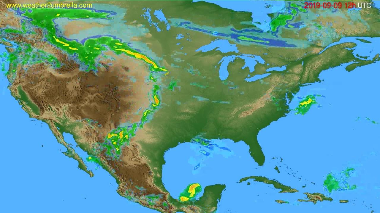 Radar forecast USA & Canada // modelrun: 00h UTC 2019-09-09