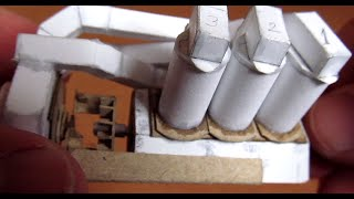 Working model of V6 engine is fully made of paper (only pistons side surfaces covered with scotch tape). The model runs on...