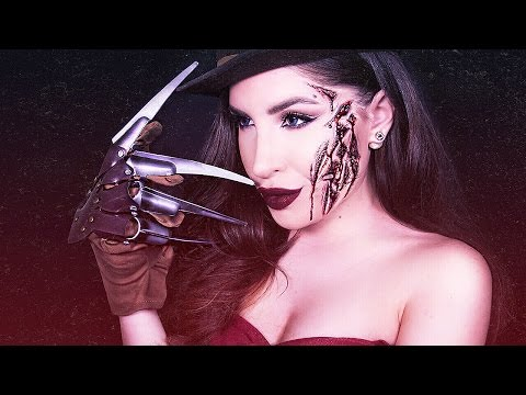 GLAM & SEXY Freddy Krueger Halloween Costume Makeup Tutorial