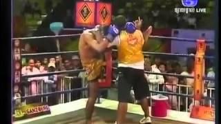 Cambodia Boxing- International Khmer Boxing On TV5 Ung Vireak Cambodia Vs Thailand Sen Cha