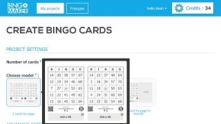 "Website: https://www.bingomaker.com/Script:Hi, this tutorial explains how to generate personalized bingo cards with Bingo Maker dot com.On the main page, click at the top-right corner on ""New Project"".Choose the number of cards that will be generated for this project. The card generation costs 2 credits per 25 cards for a maximum of 500 cards.Choose one of the sheet models available.The gray areas around the sheet represent the spaces available where you can insert images during the design of the cards.The advanced settings are set by default to generate standard bingo cards containing numbers from 1 to 75 with a free center. Choose the customization options that better fit your needs.When you have finished selecting your project settings, click ""Create cards"".To see the bingo cards that you just created, go in the row of your project to the column ""Cards"" and then click ""View"".The last project created or edited will be shown at the top of the main page.If you have selected the kind of bingo ""Custom text lines"" in the advanced settings, click ""Next step"".Note that you will not be able to change the input method once your project will be saved. By default, the values will be distributed by columns. ""Copy and paste"" the text lines that will appear in the squares of your bingo cards.When you select the imput method ""By rows"", a window may appear in your browser. To continue, click ""Leave"". ""Copy and paste"" the text lines on the table and they will be distributed by rows while alternating columns. This method allows a better distribution of values to avoid inserting the text lines in alphabetical order in the same columns.When finished, click ""Save list and create cards"". Once you have saved a project with the setting ""Custom text lines"", you will have 12 hours to make corrections to the values by clicking ""Modify the list of values"".Thank you for using Bingo Maker dot com."