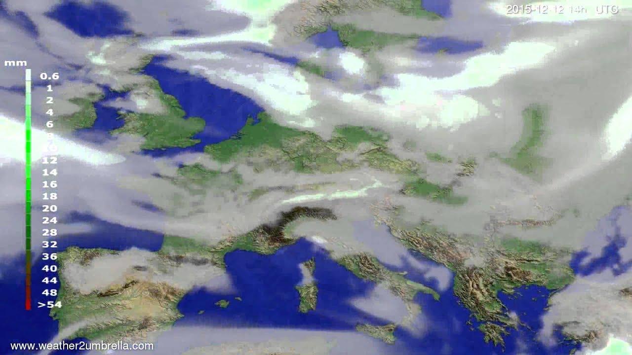 Precipitation forecast Europe 2015-12-08