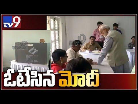 PMNarendra Modi casts vote in Ahmedabad