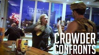 CROWDER CONFRONTS: Violent Antifa 'ICE' Killer! | Louder With Crowder
