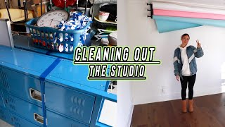cleaning out our back to school studio!! (before and after) vlogmas day 5 by Alisha Marie Vlogs